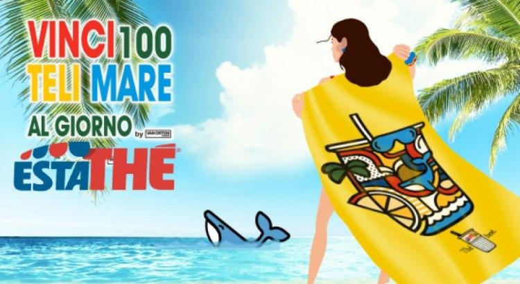 Concorso Estathè 2020 vinci 100 teli mare ogni giorno