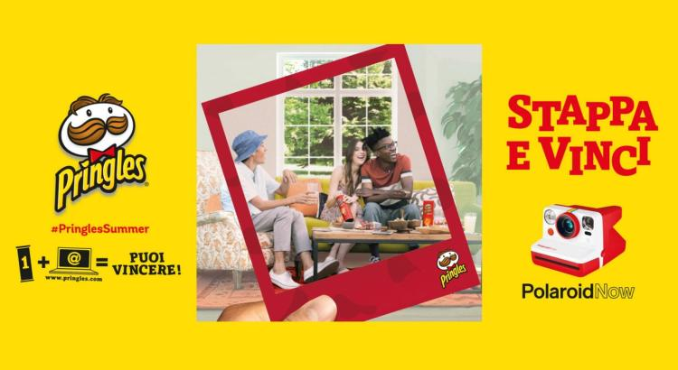 Concorso Pringles Stappa e vinci una Polaroid Now fotocamera istantanea