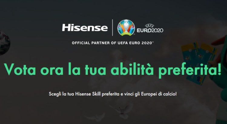 Vota la tua abilità calcistica preferita e vinci gli Europei di calcio con Hisense