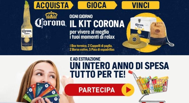 Concorso Birra Corona da Carrefour vinci kit Estate e 1 anno di spesa