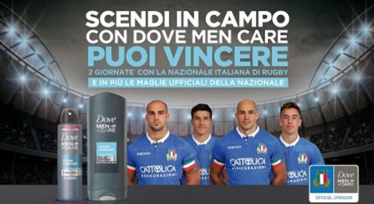 Concorso In prima linea con Dove Men+ Care vinci maglie e partite della Nazionale Italiana di Rugby