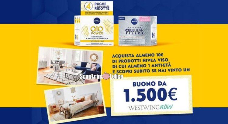 Concorso Nivea Nuova bellezza al tuo viso e alla tua casa vinci buono Westwing Now da 1500 euro