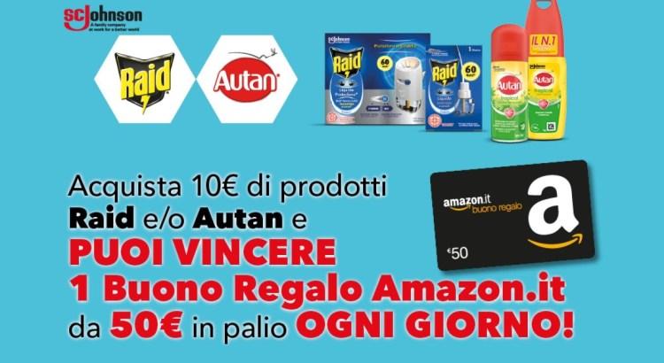 Concorso Raid e Autan vinci buono regalo Amazon da 50 euro