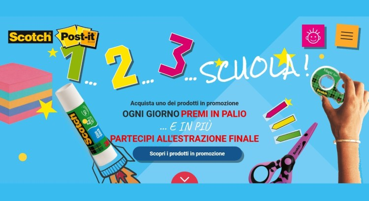 1 2 3 Scuola - Concorso Post it e Scotch