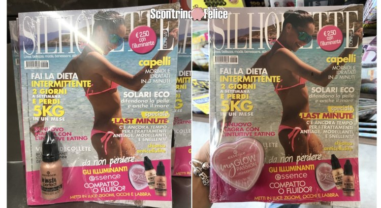 Omaggi in edicola illuminanti Insta Perfect o My Glow Passion di Essence con Silhouette Donna