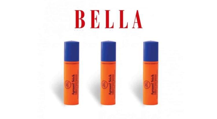 Omaggi in edicola stick labbra Aptasol Bio con Bella Luglio 2020