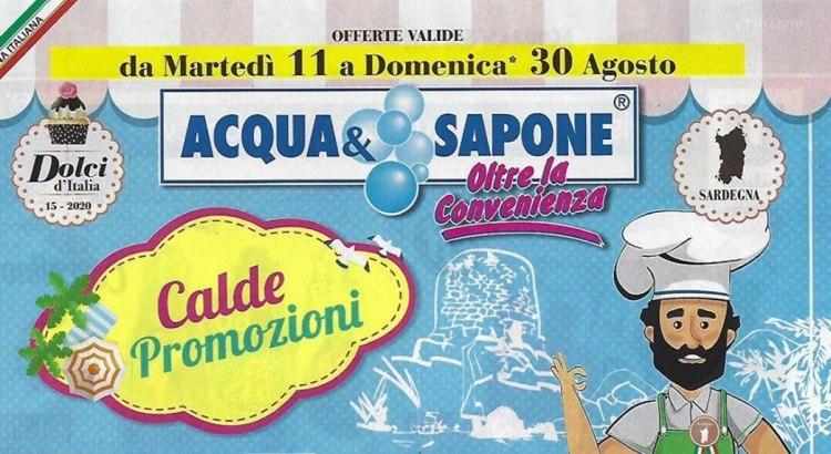 Concorsi Nuovo Volantino Acqua e Sapone 11-08 al 30-08 2020