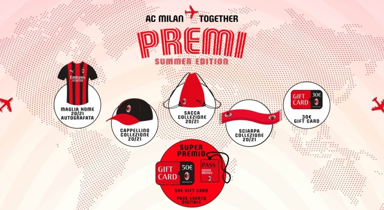Concorso AC Milan - Together summer edition - Vinci gadget