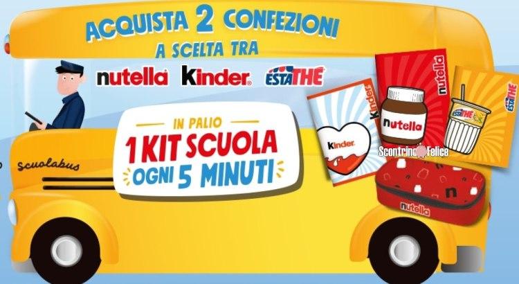 Concorso Ferrero vinci 1 kit scuola Limited Edition ogni 5 minuti