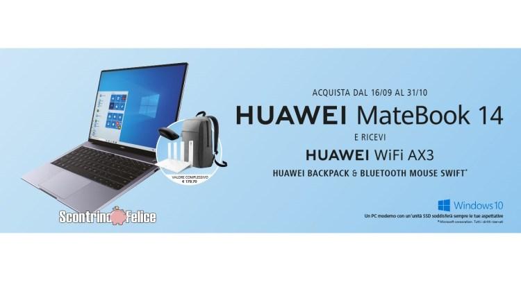 iniziativa Huawei Matebook 14 AMD 2020 premio certo