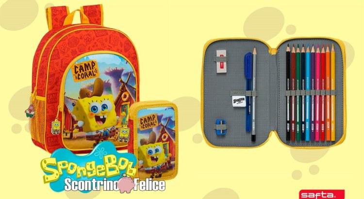 Vinci gratis set di zaino astuccio SpongeBob Safta con Mayoral