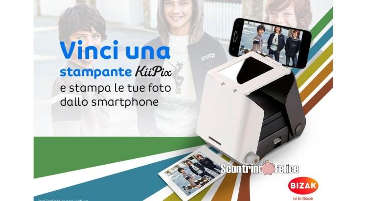 Vinci gratis stampanti fotografiche per cellulare Kiipix