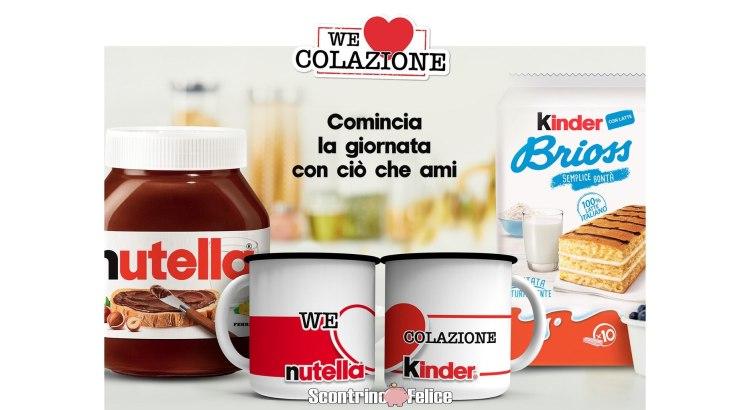 We Love Colazione Premio Certo Tazze Latta Nutella Kinder Ferrero 2020