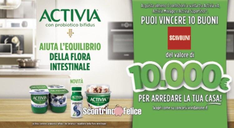 """Concorso """"Arreda la tua casa con Activia"""": vinci 10 buoni Scavolini da 10.000€"""