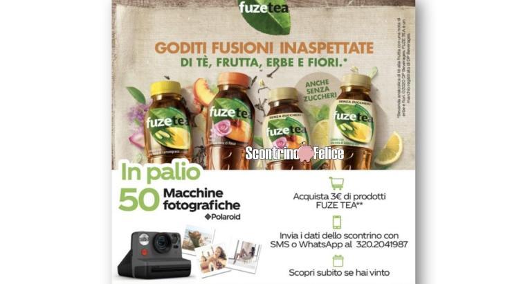 Concorso FuzeTea da Coop in palio 50 macchine fotografiche Polaroid