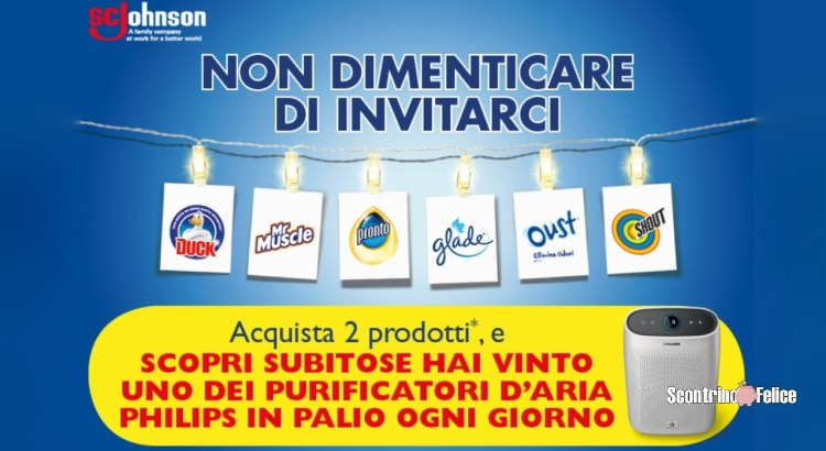 Concorso Glade Oust Duck Pronto Shout Mr Muscle da Conad in palio 15 Purificatori d'aria Philips