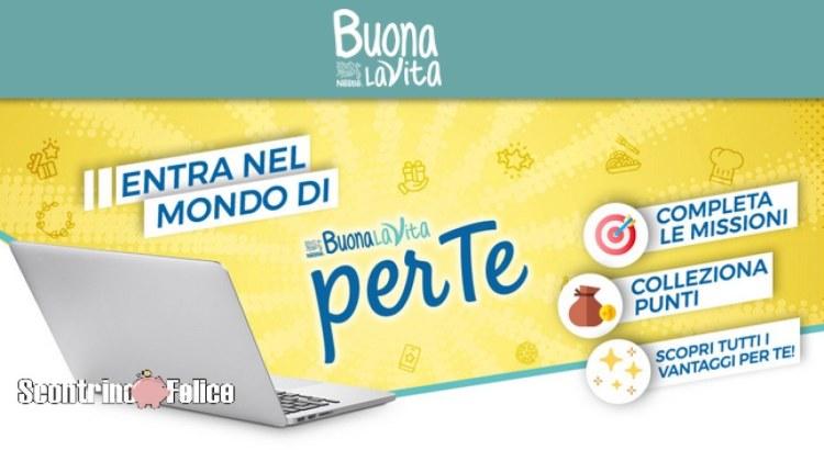 Programma fedeltà Nestlè Buona La Vita PER TE
