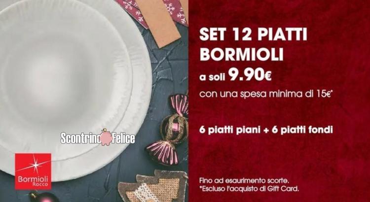 Servizio di piatti Bormioli a soli 9.90€ da Tigotà