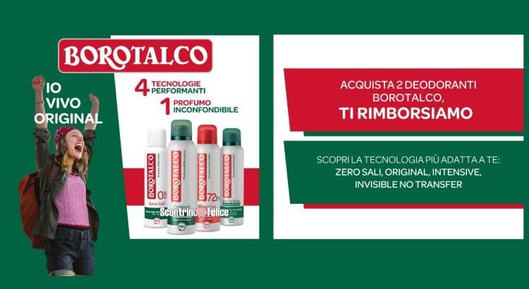 rimborso deodoranti borotalco IO VIVO ORIGINAL