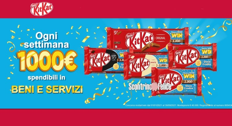 concorso KitKat HAVE A BREAK & WIN