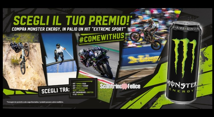 Concorso Monster vinci un Kit Extreme Sport
