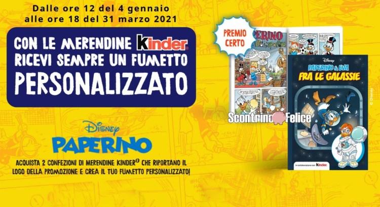 Merendine Kinder Fumetto Disney paperino premio sicuro