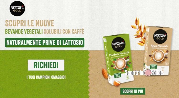 campione omaggio Nescafe Mandorla Macchiato e Nescafé Avena Macchiato