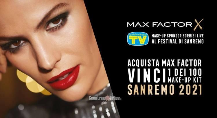 Concorso Max Factor vinci 1 dei 100 Make-Up Kit Sanremo 2021
