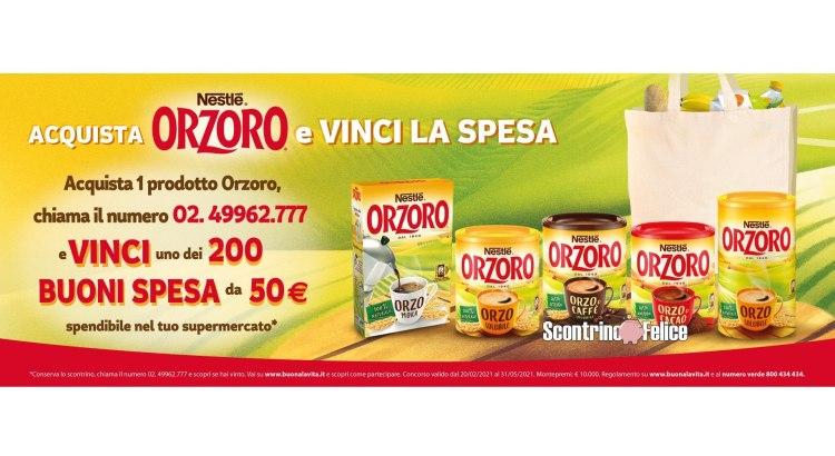 concorso a premi Orzoro Vinci la spesa