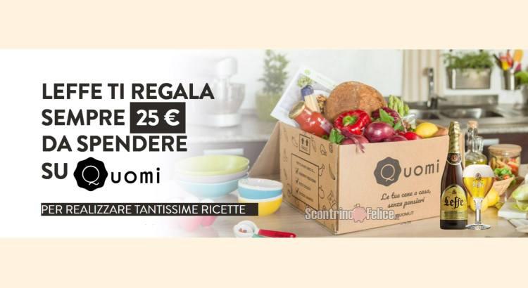 Cucina con Leffe premio certo box alimentare Quomi