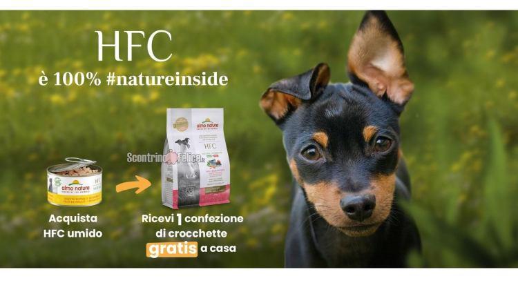 Acquista HFC di Almo Nature umido o secco per Cane e ricevi la nuova crocchetta HFC a casa tua