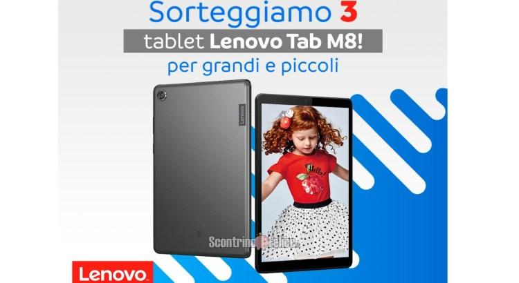Vinci gratis 3 Tablet Lenovo Tab M8 con Mayoral