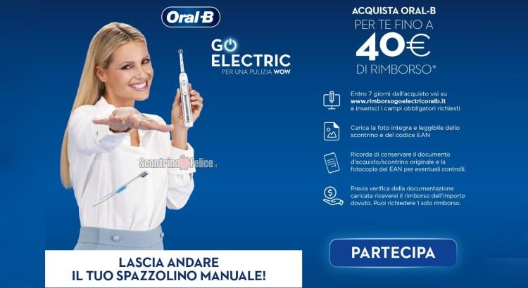 Oral B Lascia Andare il tuo Spazzolino Manuale rimborso