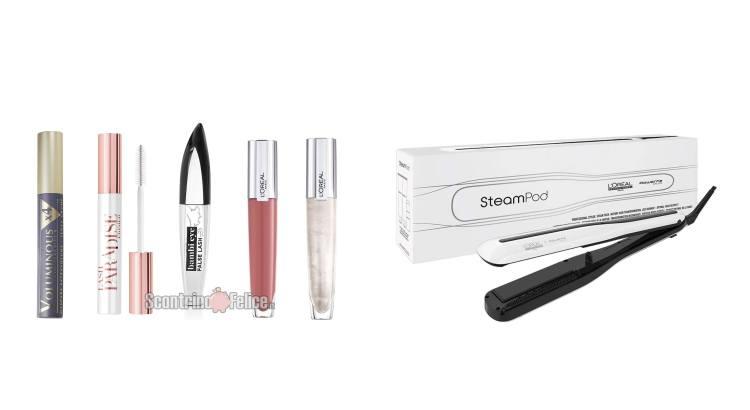 Acquista un mascara o un gloss L'Oréal Paris e puoi vincere una delle 170 piastre a vapore Steampod