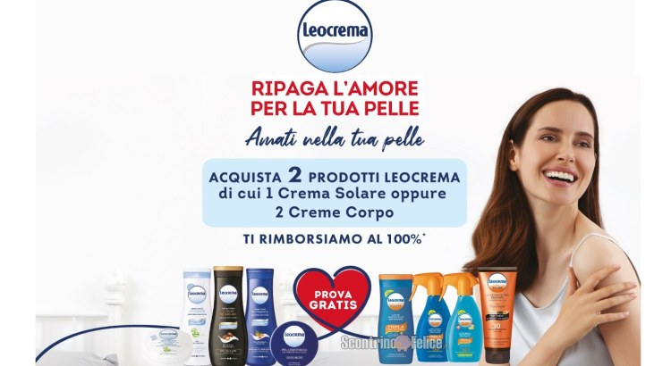 Cashback Leocrema Ripaga L'Amore Per La Tua Pelle ricevi il rimborso di 2 prodotti