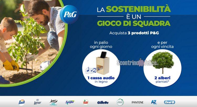 Concorso P&G La sostenibilità è un gioco di squadra da Carrefour vinci Casse audio in legno