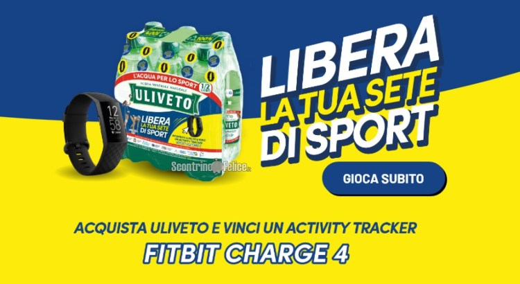 Concorso Uliveto Libera la tua sete di sport vinci Fitbit Charge 4