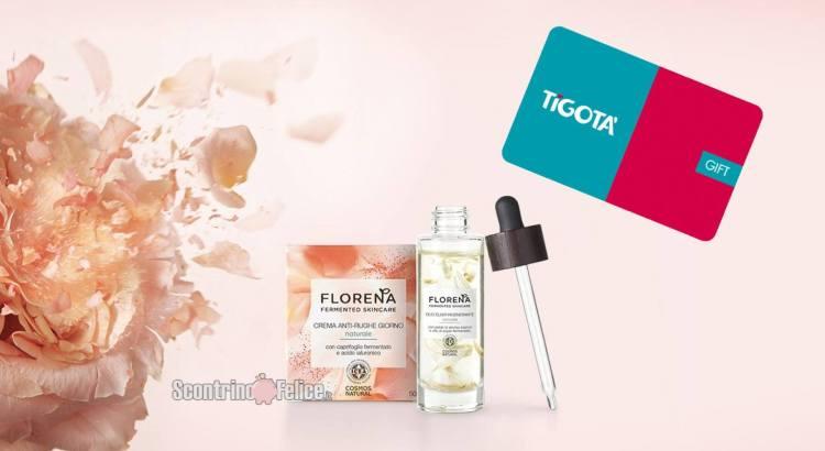 FLORENA FERMENTED SKINCARE ti premia gift card Tigotà da 10€ come premio certo