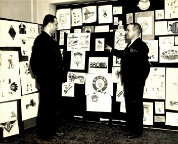 1937 - Barnes & DeWitt review new logo submissions
