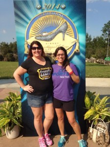 Vic and Heather outside the expo entrance.  Glass Slipper Challengers, holla!