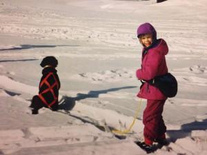 Growing up in Alaska means skijoring on the regular.