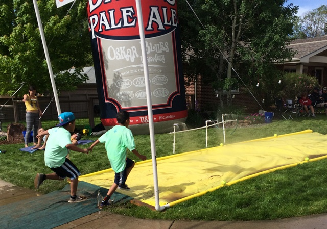 Just a homemade Slip and Slide. In some dude's front lawn. For 50k people to run through.