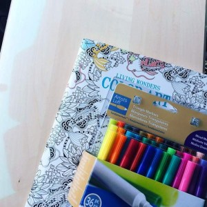 And a coloring book because of reasons.