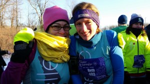 It was bitter cold when pal Beth and I ran a winter half-marathon last year. Subzero temps had us bundle up and we were still darn chilly by the time we finished.