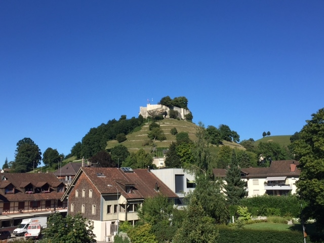 Castle Lenzburg from our balcony