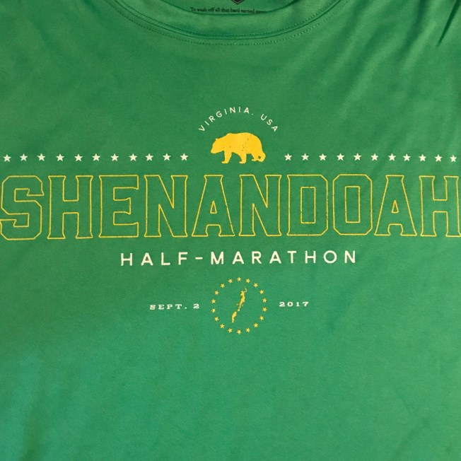 Shenandoah Half Shirt 2017