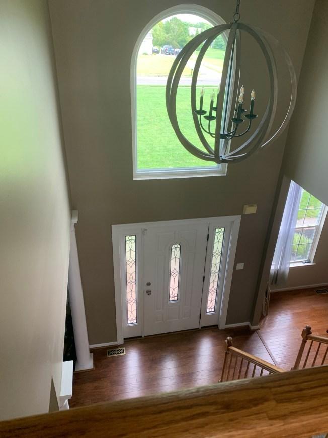 New light fixture and window.