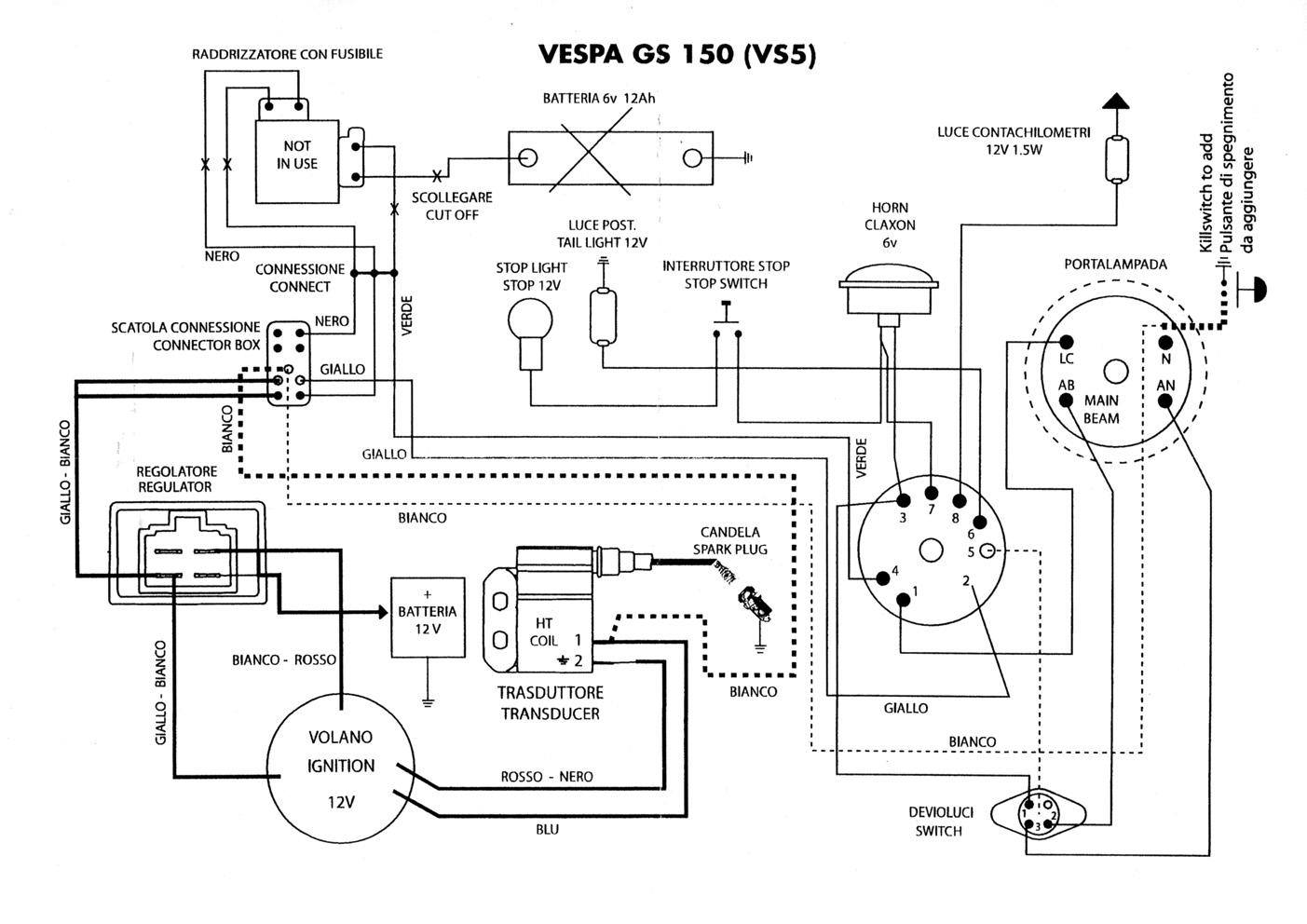 Ignition Evergreen Vespatronic Vespa Gs150 Gs3