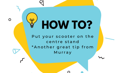 Here is some great advice on how to put your scooter on the centre stand!