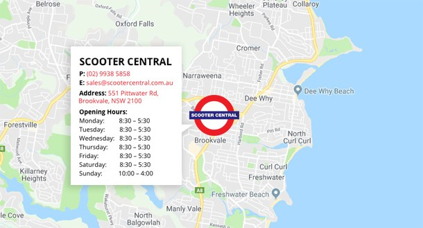 Scooter Central Location Map